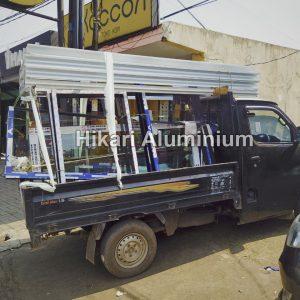 pengiriman bahan kusen aluminium